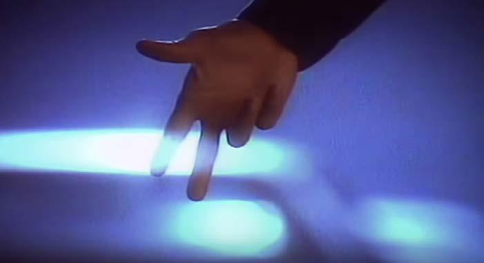 "Figure-12 ""The Way You Make Me Feel"" screen shot unintelligible hand gesture"