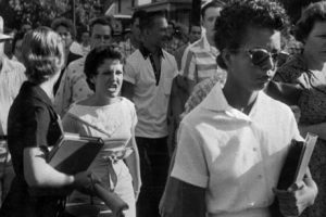 Hazel Bryan and Elizabeth Eckford, Little Rock, Arkansas, September 1957.